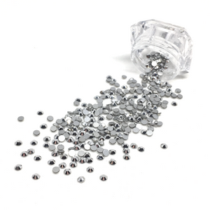 SS10 Silver Chrome Flatback Crystals - 300 Crystals