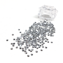 SS12 Silver Chrome Flatback Crystals - 300 Crystals