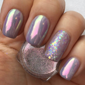 Opal Unicorn Chrome Powder for nails
