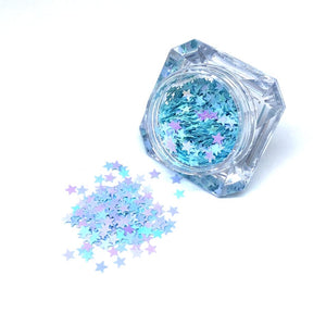 nail art supplies blue stars