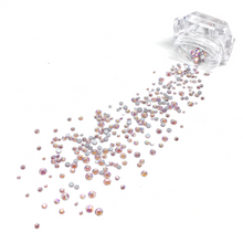 Mixed Sizes Light Rose AB Flatback Crystals - 300 Crystals