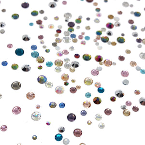 Mixed Sizes Nail Crystals - Unicorn Party Crystal Mix