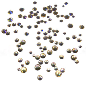Beautiful Golden Starlight nail crystals mixed sizes