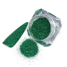 green glitter santas lil helper in fine
