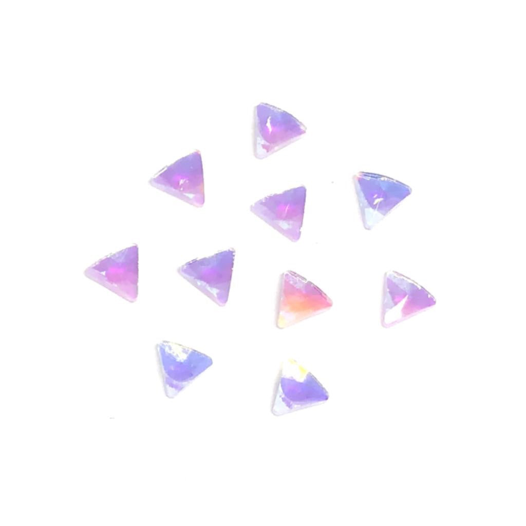 Triangle nail crystals (white iridescent unicorn colour)
