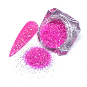 Happy hour - bright pink fine nail glitter