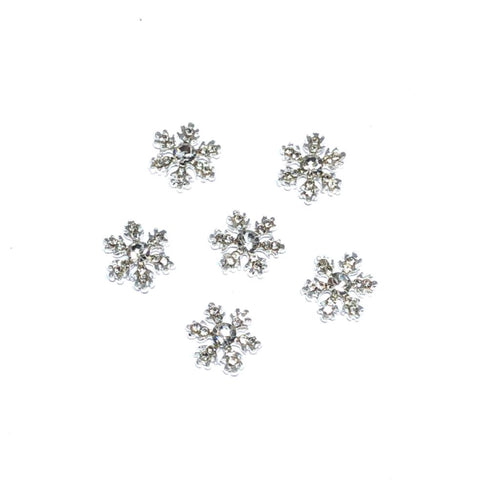 snowflake nail charms with crystals
