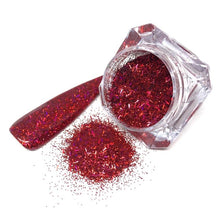 tinsel mix red chunky nail glitter