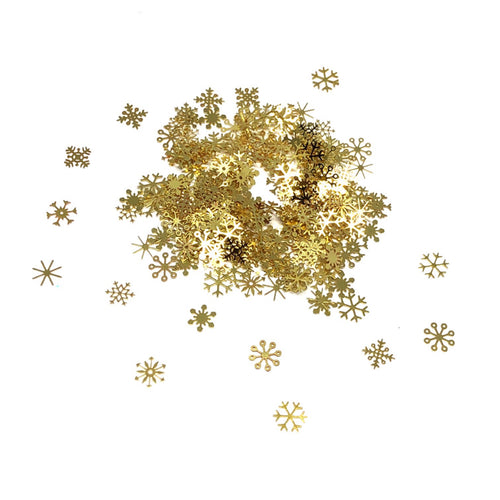 Gold Metal Snowflakes