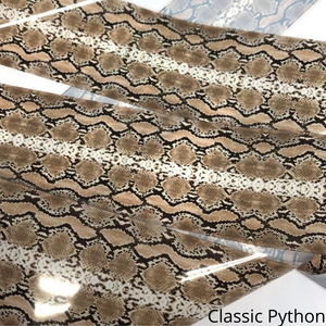 classic python natural colours, snakeskin foil for nails