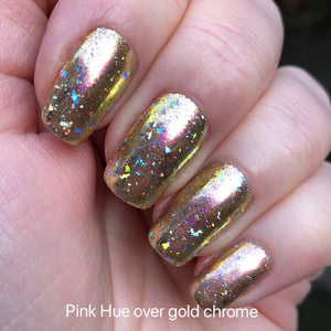 Aurora Galaxy Chrome Flakes for nails