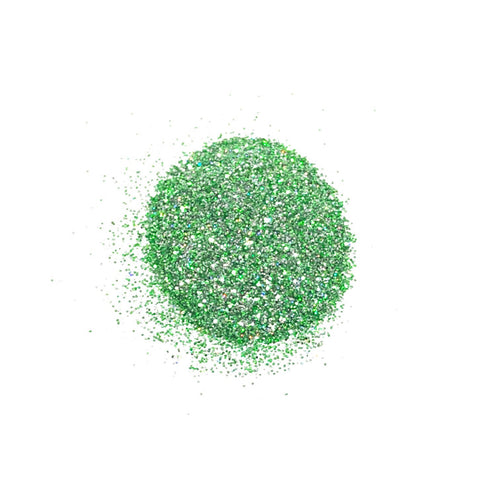 Shamrocked green nail glitter