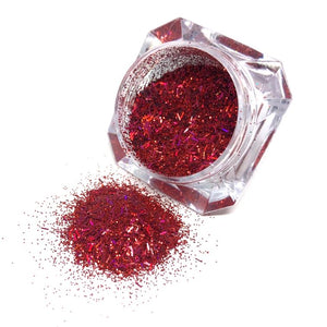 rockin robin tinsel mix red nail glitter