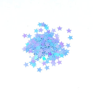 blue iridescent stars for nails