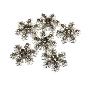 beautiful snowflake nail embellishments with crystals