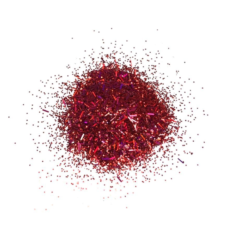 red tinsel mix nail glitter