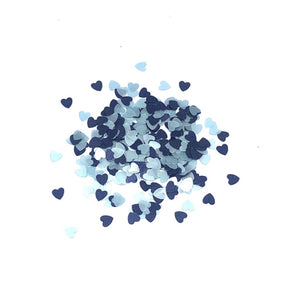 Something Blue heart shaped glitter in 2.5mm hearts - perfect for wedding nails