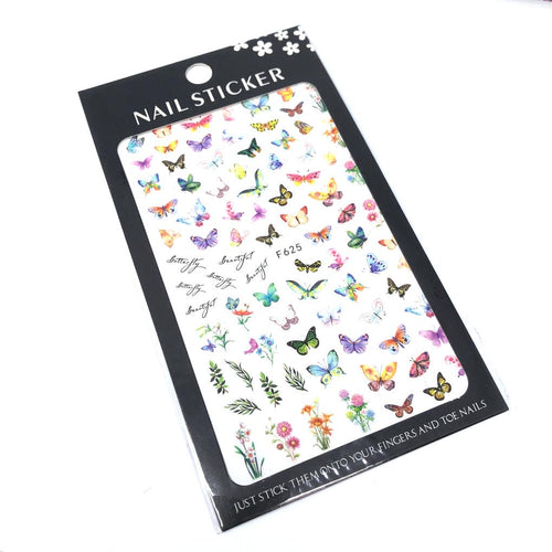painted butterfly nail stickers