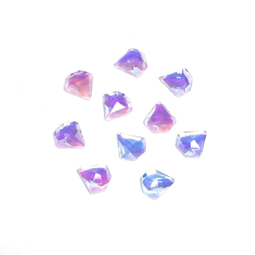 Fancy Diamond Nail Crystals - White AB
