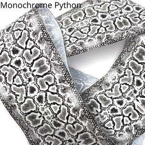 monochrome python black and white snakeskin nail transfer foil