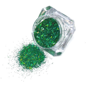 green nail glitter christmas santas lil helper