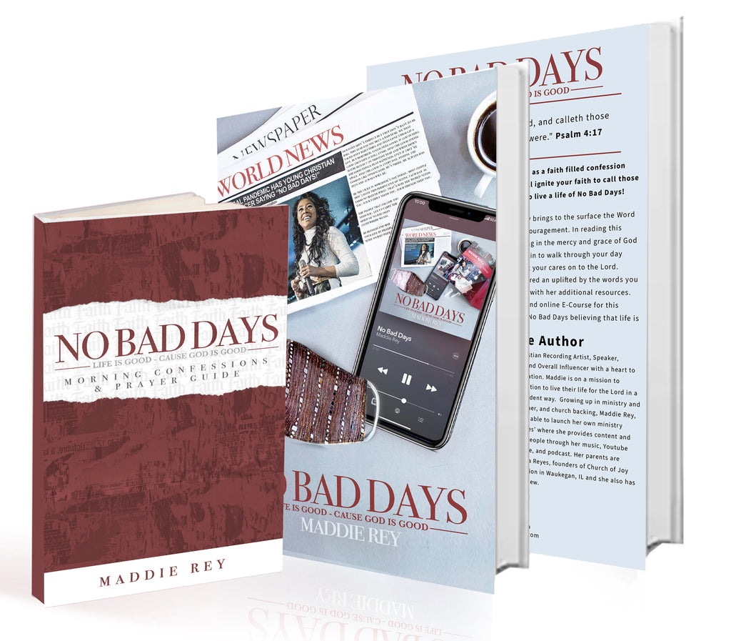 No Bad Days Paperback Book with Morning Confessions & Prayer Guide Mini Book