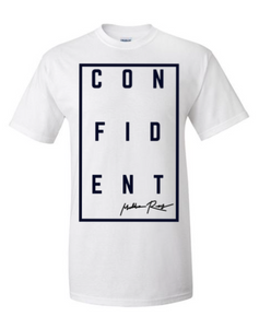 CONFIDENT Short Sleeve Tee (White)