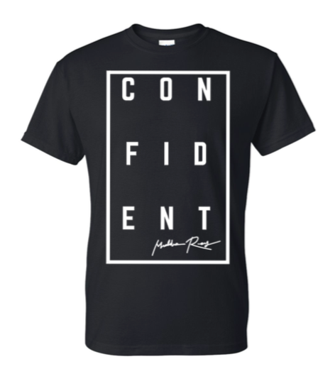 CONFIDENT Short Sleeve Tee (Black)