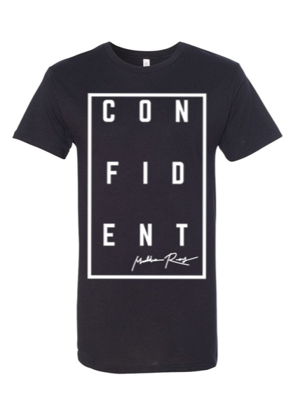 CONFIDENT Short Sleeve Long Tee (Black)