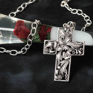 Classic Christian Cross –long necklace