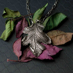 Turning a new leaf-  necklace