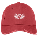 Red D4G Distressed Dad Hat