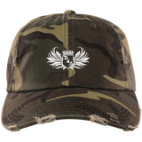 Camo D4G Distressed Dad Hat