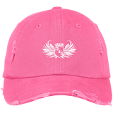 True Pink D4G Distressed Dad Hat
