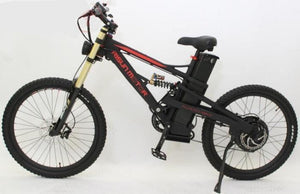 ConhisMotor 48V 18ah 1500W Full Suspension Mustang E-Bike with Zoom Triple Crown Fork