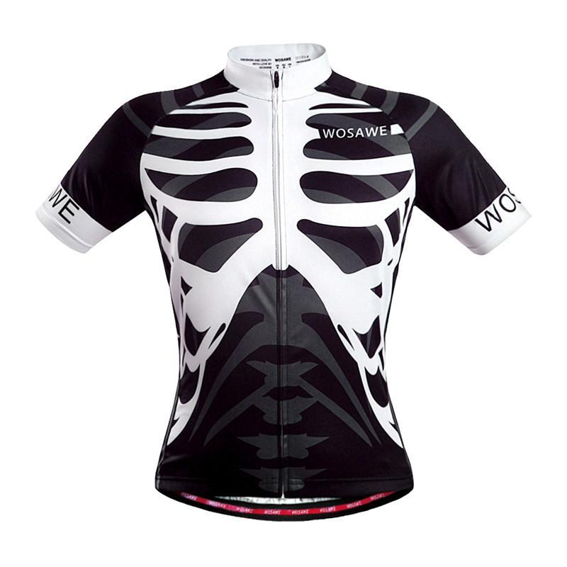 WOSAWE Cycling Jerseys Mens Mountain Road Bike Bicycle EBike Sportswear Ciclismo Short Sleeve Cycle Wear Clothing