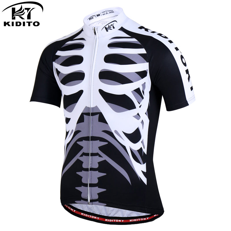 KIDITOKT EBike Cycling Jersey Breathable Motocross Jersey MTB Downhill Bike Clothes Men Women Short Sleeve Bicycle Tops 2017