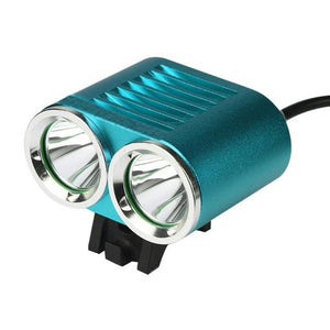 Bicycle Cycling Light Aluminum Alloy Waterproof 2 x 6000 LM CREE T6 LED with 4 x 18650 Battery