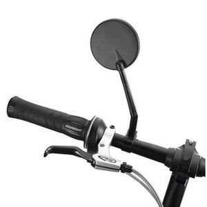 Cycling EBike Rear View Glass Mirror Wide Range Reflector Angle Adjustable