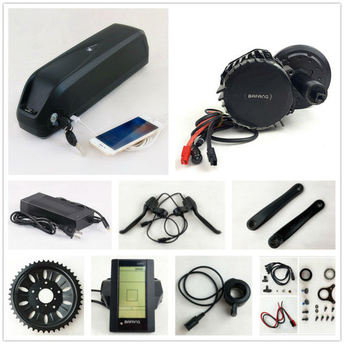 Bafang BBS03/BBSHD 48V 1000W Ebike Mid Drive Bicycle Motor electric bike conversion kit with 48V 17.5AH battery