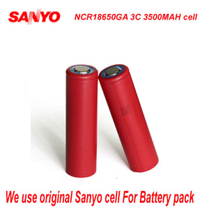 Cylindrical 48V 20AH Locking EBike Lithium Ion Battery with Sanyo Cells