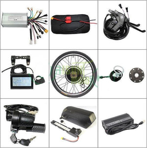 "48V 1000W 26"" Rear Wheel Ebike Conversion Kit And 48V 17.5AH Down Tube Battery With 5A Charger"