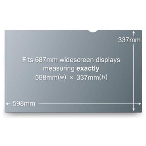 "3M PF27.0W9 Privacy Filter for Widescreen Desktop LCD Monitor 27.0"" - For 27""Monitor"
