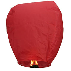 100 Pack Red Paper Chinese Floating Sky Lantern Flying Candle Lamps