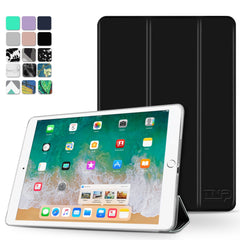 """iPad Pro 9.7 Case Slim Shell Smart Cover Stand, Hard Back Protection w/ Auto Sleep Wake (Black)"""