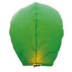 100 Pack Green Paper Chinese Floating Sky Lantern Flying Candle Lamps