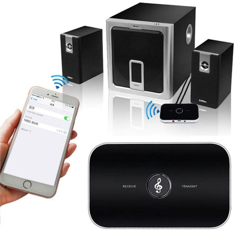 B6 Bluetooth 2.1 2-in-1 Audio Receiver and Transmitter Music Sound Wireless Adapter Black