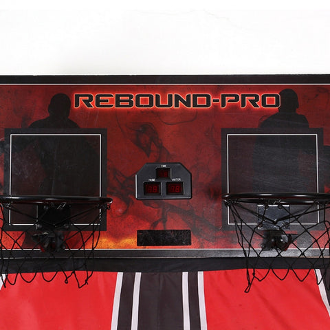 Double Shot Electronic Hoops with 5 Balls & Scoring Gray