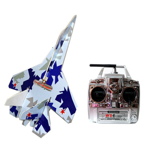 Flashing Led Jets Kt Foam Rc Plane SU 27 Model Electric Remote Control Airplanes Toys Hot Sale Drop Shipping