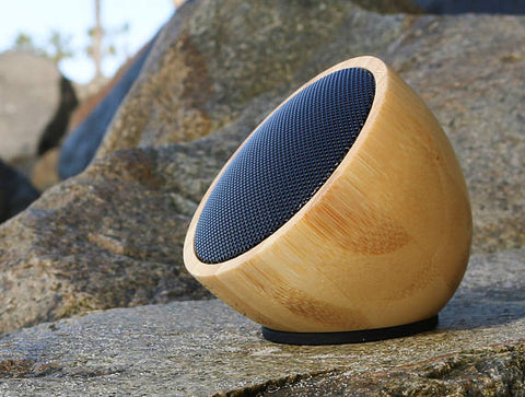 Acoustic Acorn - Bamboo Bluetooth 3.0 Speaker - Wireless, Outdoor Ready